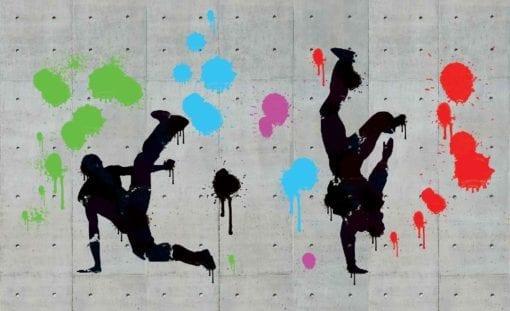 Fototapet med motivet: Graffiti betongvägg Hip Hop