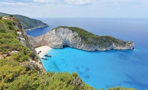 Fototapet med motivet: Grekland Strand Cliff Hav