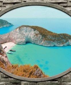 Fototapet med motivet: Grekland Utsikt Strand Cliff Hav