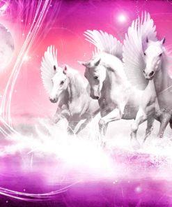 Fototapet med motivet: Hästen Pegasus Rosa