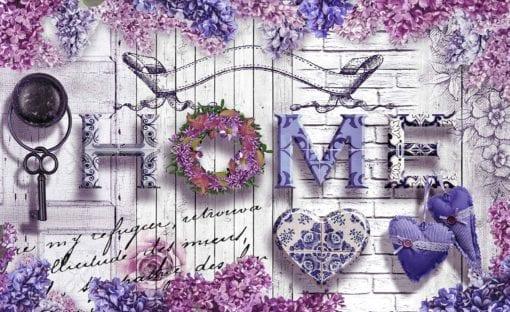 Fototapet med motivet: Hem Blommor Vintage