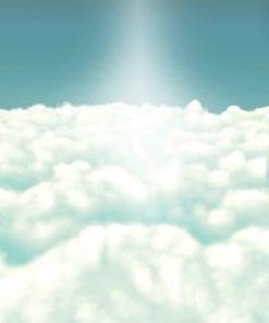 Fototapet med motivet: Himmel Moln Dörrar