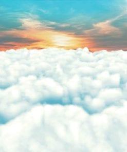 Fototapet med motivet: Himmel moln Solnedgång