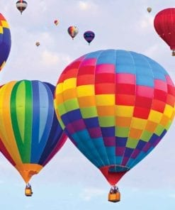 Fototapet med motivet: Hot Air Baloons Färger