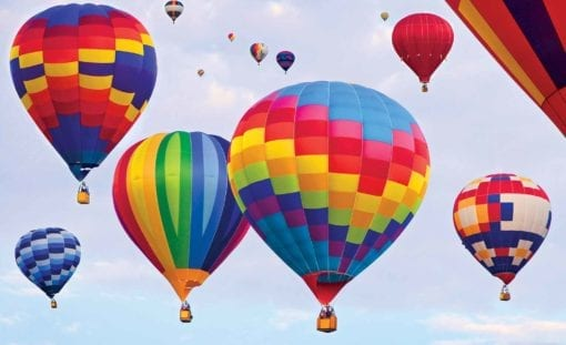 Fototapet med motivet: Hot Air Baloons Färger