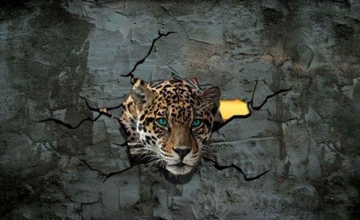 Fototapet med motivet: Jaguar Leopard 3D
