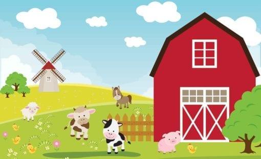 Fototapet med motivet: Jordbruks tecknad Pojke sovrum