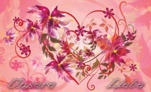 Fototapet med motivet: Kärlek Blommor Abstrakt