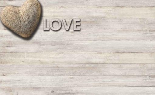 Fototapet med motivet: Kärlek stenhjärta