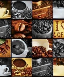 Fototapet med motivet: Kaffekopp  Kaffebönor