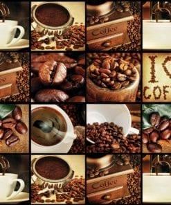 Fototapet med motivet: Kaffekopp  Kaffebönor Brun