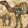 Fototapet med motivet: Kameler Blommor Abstrakt Färger