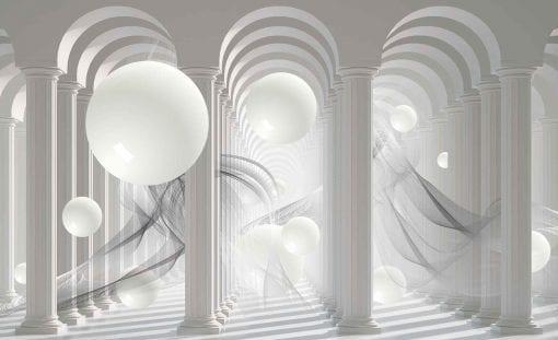 Fototapet med motivet: Kolumner Passage Abstrakt Sfär