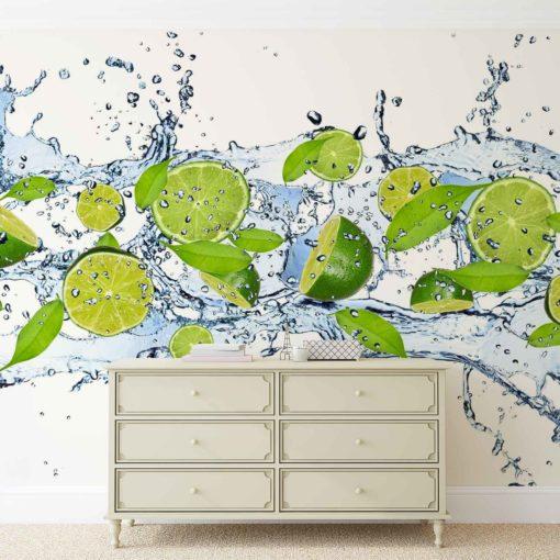 Fototapet med motivet: Limes Vatten