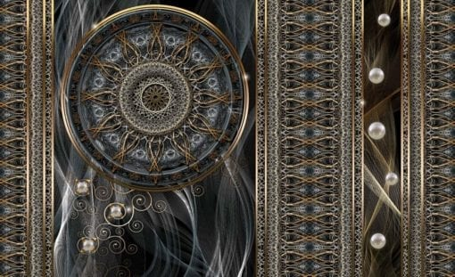 Fototapet med motivet: Lyx Abstrakt Mönster sfärer