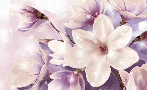Fototapet med motivet: Magnolia Lila