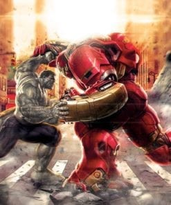 Fototapet med motivet: Marvel Avengers Fighting allierade