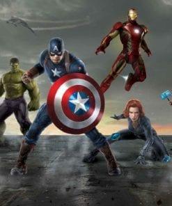 Fototapet med motivet: Marvel Avengers Formation