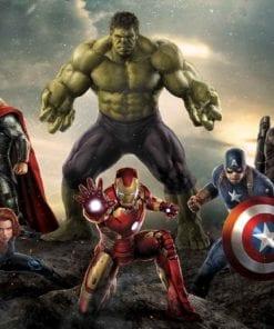Fototapet med motivet: Marvel Avengers Slaget