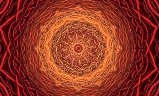 Fototapet med motivet: Modern abstrakt Mandala Art