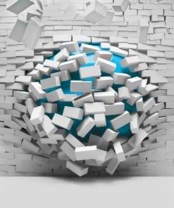Fototapet med motivet: Modern abstrakt Tegelsten Vägg