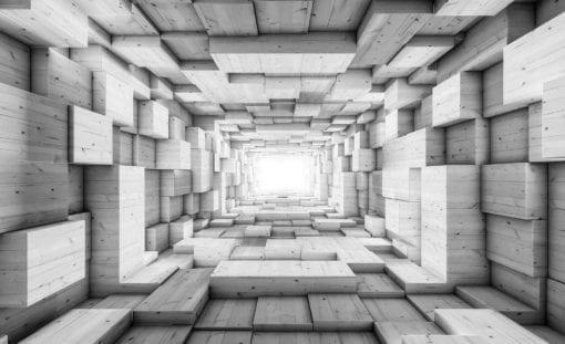 Fototapet med motivet: Modern abstrakt design 3D