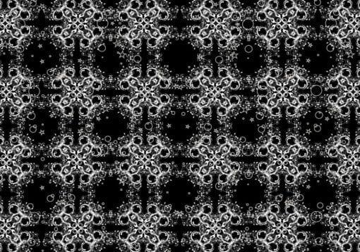 Fototapet med motivet: Modern abstrakt mönster svart Vit