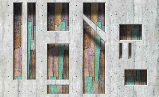 Fototapet med motivet: Modern abstrakt trä plankor
