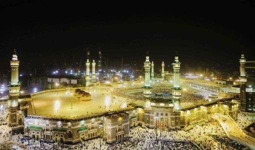 Fototapet med motivet: Moskén på natten
