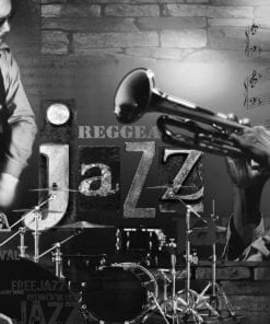 Fototapet med motivet: Musik Jazz Blås Rock