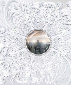 Fototapet med motivet: New York City Abstrakt Utsikt Modern