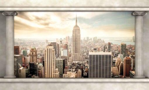 Fototapet med motivet: New York City Utsikt Pelare