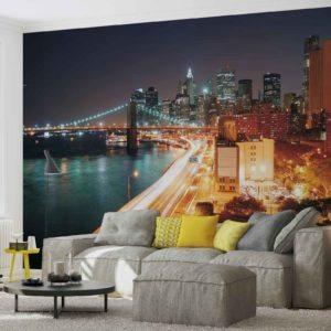 Fototapet med motivet: New York Skyline Kväll