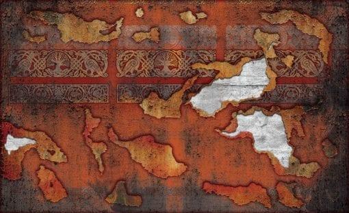 Fototapet med motivet: Orange Röd Vintage textur