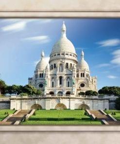 Fototapet med motivet: Paris Sacre Coeur Fönsterutsikt