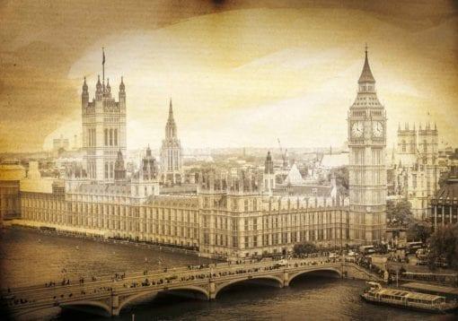 Fototapet med motivet: Parlamentsbyggnaden London