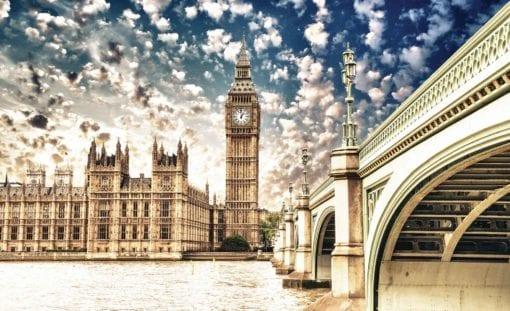 Fototapet med motivet: Parlamentshuset London