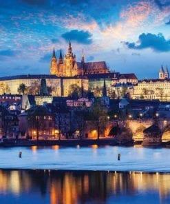 Fototapet med motivet: Prag Stad Flod