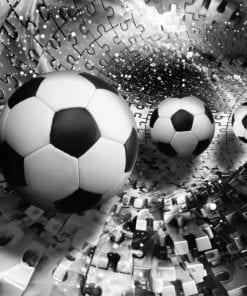 Fototapet med motivet: Pussel Fotboll