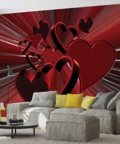 Fototapet med motivet: Röd Hjärta Abstrakt