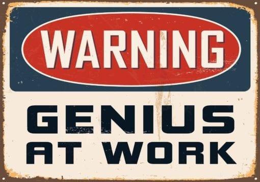 Fototapet med motivet: Retro affisch Geni
