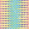 Fototapet med motivet: Retro hjärtan mönster Färgglad