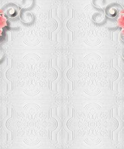 Fototapet med motivet: Rosa Blomma blommönster