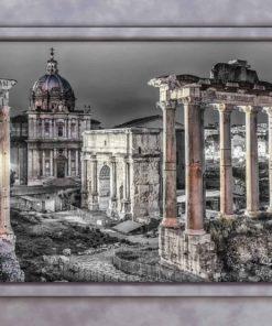 Fototapet med motivet: Ruiner Rom fönterutsikt