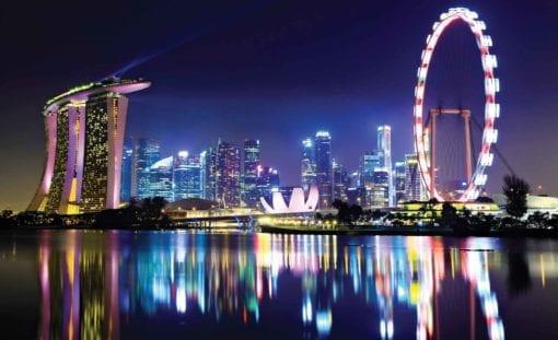 Fototapet med motivet: Singapore Stad horisont