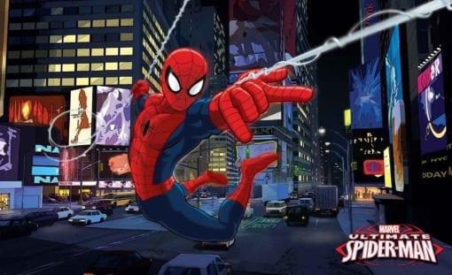 Fototapet med motivet: Spindelman Marvel Spindelmannen