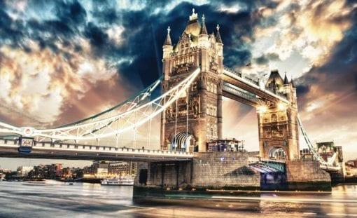 Fototapet med motivet: Stad London Tower Bridge