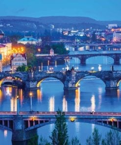 Fototapet med motivet: Stad Prag River Bridges