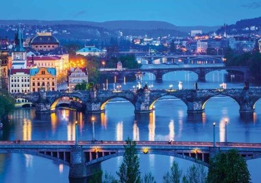 Fototapet med motivet: Stad Prag River Bridges