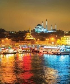 Fototapet med motivet: Stad Turkiet Bosphorus Multicolour